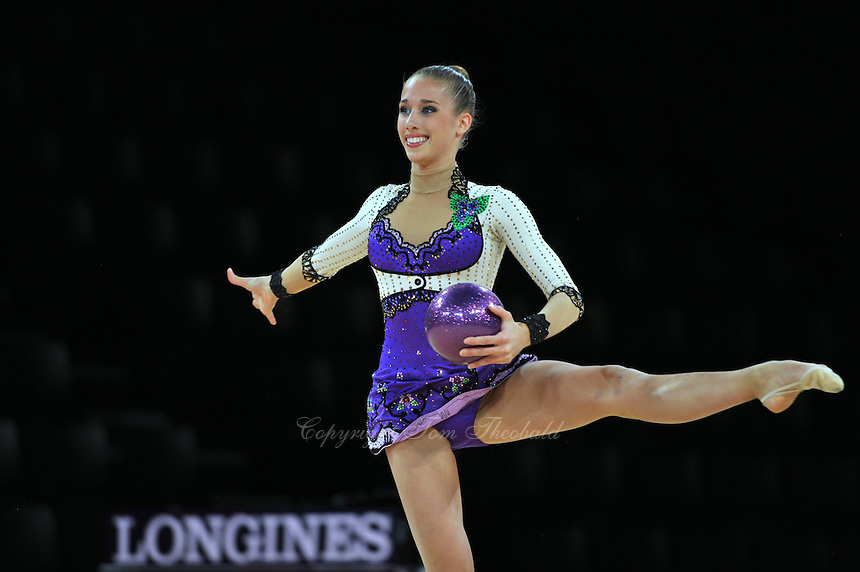 September 20, 2011; Montpellier, France;  SHELBY KISIEL of USA performs with ball at 2011 World Championships.