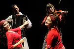 TZIGANE IMAGINAIRE<br /> <br /> Mise en sc&egrave;ne : ZELWER Jean Marc<br /> Collaboration artistique : ZIMINA Youlia<br /> Compositeur : ZELWER Jean Marc<br /> Lumi&egrave;re : MERAT Pascal<br /> Avec :<br /> ROVIRA SALAT Nuria : Chor&eacute;graphies Danse Chant<br /> BAILECHE Louisa : Chant Danse<br /> GILIS Mirabelle : Violon<br /> MAINDIVE Pierre : Contrebasse<br /> MAITRA Shyamal : Tablas<br /> RIGOPOULOS Pierre : Percussion Zarb Piano jouet<br /> ZELWER Jean Marc : Accord&eacute;on Santour Nyckelharpa<br /> Lieu : Th&eacute;&acirc;tre Jean Vilar<br /> Cadre : Ann&eacute;e France Russie 2010<br /> Ville : Suresnes<br /> Le : 08 10 2010<br /> &copy; Laurent PAILLIER / www.photosdedanse.com <br /> All Rights reserved