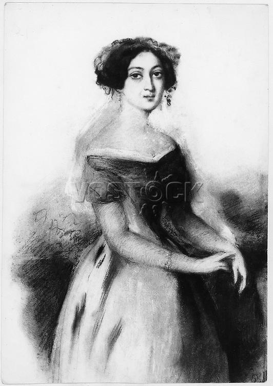 Portrait of Princess Nino Chavchavadze, c. 1830.