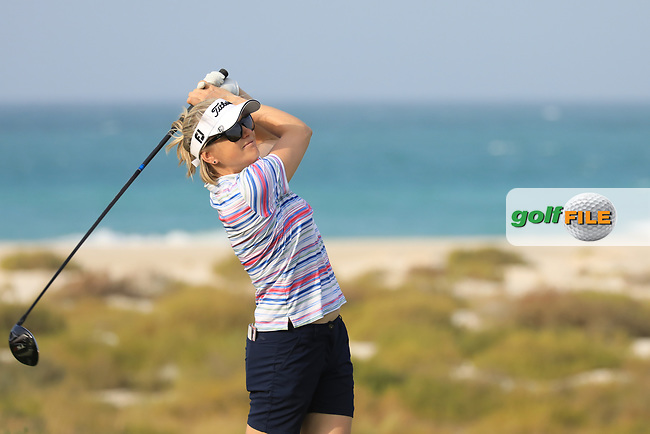 Lynn Carlsson (SWE) during the first round of the Fatima Bint Mubarak Ladies Open played at Saadiyat Beach Golf Club, Abu Dhabi, UAE. 10/01/2019<br /> Picture: Golffile | Phil Inglis<br /> <br /> All photo usage must carry mandatory copyright credit (&copy; Golffile | Phil Inglis)