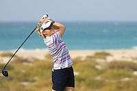 Lynn Carlsson (SWE) during the first round of the Fatima Bint Mubarak Ladies Open played at Saadiyat Beach Golf Club, Abu Dhabi, UAE. 10/01/2019<br /> Picture: Golffile | Phil Inglis<br /> <br /> All photo usage must carry mandatory copyright credit (© Golffile | Phil Inglis)