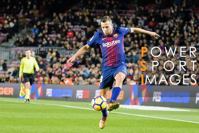 Jordi Alba of FC Barcelona in action during the La Liga 2017-18 match between FC Barcelona and Deportivo La Coruna at Camp Nou Stadium on 17 December 2017 in Barcelona, Spain. Photo by Vicens Gimenez / Power Sport Images