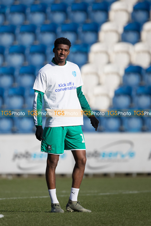 Tyreeq Bakinson of Plymouth Argyle during Colchester United vs Plymouth Argyle, Sky Bet EFL League 2 Football at the JobServe Community Stadium on 8th February 2020