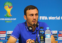Vasileios Torosidis of Greece during a press conference ahead of tomorrow's fixture vs Costa Rica