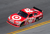 Feb 07, 2009; Daytona Beach, FL, USA; NASCAR Sprint Cup Series driver Juan Pablo Montoya during practice for the Daytona 500 at Daytona International Speedway. Mandatory Credit: Mark J. Rebilas-