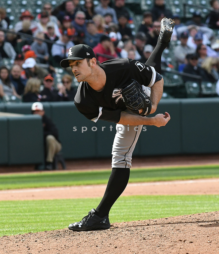 BALTIMORE, MD - May 7, 2017:  David Robertson #30 of the Chicago White Sox during a game against the Baltimore Orioles on May 7, 2017 at Oriole Park at Camden Yards in Baltimore, MD. The Orioles beat the White Sox 4-0.(Chris Bernacchi/ SportPics)