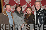 SOCIAL: Attending the Churchill GAA social at the Ballyroe Heights hotel on Friday l-r: Christy and Kathleen Lynch. Mary McCord-Kelly and Robert Kelly all from Fenit.
