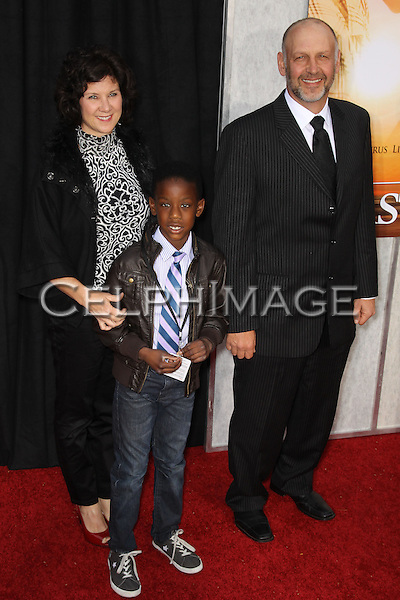 "NICK SEARCY AND FAMILY. Arrivals to the LA Premiere of Touchstone Pictures, ""The Last Song,"" at the Arclight Hollywood Theatre. Los Angeles, CA, USA. March 25, 2010."
