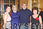 CLUB: Having great fun at the Kerry Supporters Club annual dinner at the Ballygarry House hotel and Spa on Saturday Triona Brassil, Leanne Ryan, Jimmy Darcy and Carmel Mansfield.