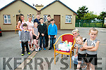 Caroline Quilligan pictured with Children Ria, Tom, Breda, Jimmy, Mikey,  Mary, Karla, Martin, Rosie, Paddy, and Shane at the Halting site on the Blennerville road on Monday