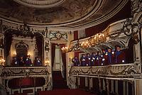 Europe/Belgique/Wallonie/Province de Hainaut/Chimay : La jurade de Chimay dans le petit théâtre du château de Chimay (Architecture Renaissance)-Bière Trappiste