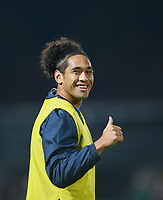 1st November 2019; RDS Arena, Dublin, Leinster, Ireland; Guinness Pro 14 Rugby, Leinster versus Dragons; Joe Tomane of Leinster gives a thumbs up to supporters prior to kickoff<br />  - Editorial Use