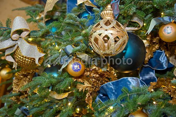 Christmas Time In Washington Dc.White House Christmas Decorations Admedia Photo