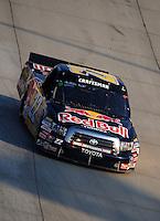 May 30, 2008; Dover, DE, USA; Nascar Craftsman Truck Series driver Scott Speed during the AAA Insurance 200 at Dover International Speedway. Mandatory Credit: Mark J. Rebilas-US PRESSWIRE.