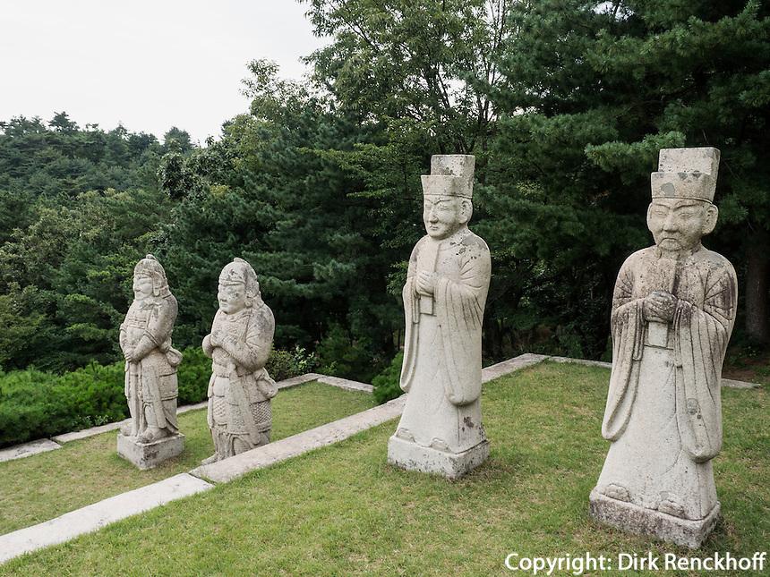 K&ouml;nigsgrab Kong Min bei Kaesong, Nordkorea, Asien, UNESCO-Weltkulturerbe<br /> Royal tomb Kong Min near Kaesong, North Korea, Asia, world heritage