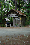 Entrance to Maine Forest and Logging Museum, Maine, USA