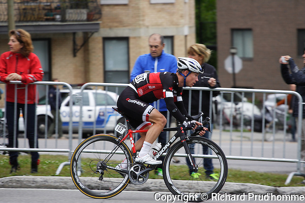 Brian Roth from Canada's national cyclist team racing in the montreal Grand Prix Cycliste event