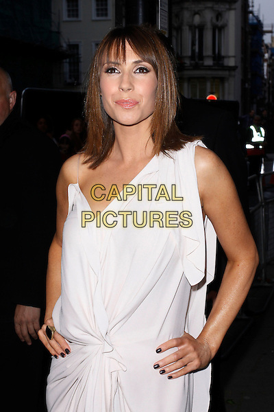 Alex Jones.Arrivals at the Glamour Women Of The Year Awards, Berkeley Square Gardens, London, England..May 29th, 2012.half length white dress hands on hips.CAP/AH.©Adam Houghton/Capital Pictures.