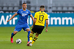 Raphael Guerreiro (Borussia Dortmund, #13), Pavel Kaderabek (TSG 1899 Hoffenheim, #3); 1. Fussball-Bundesliga; Borussia Dortmund - TSG Hoffenheim am 27.06.2020 im Signal-Iduna-Park in Dormund (Nordrhein-Westfalen). <br /> <br /> FOTO: BEAUTIFUL SPORTS/WUNDERL/POOL/PIX-Sportfotos<br /> <br /> DFL REGULATIONS PROHIBIT ANY USE OF PHOTOGRAPHS AS IMAGE SEQUENCES AND/OR QUASI-VIDEO. <br /> <br /> EDITORIAL USE OLNY.<br /> National and<br /> international NewsAgencies OUT.<br /> <br /> <br /> <br /> Foto © PIX-Sportfotos *** Foto ist honorarpflichtig! *** Auf Anfrage in hoeherer Qualitaet/Aufloesung. Belegexemplar erbeten. Veroeffentlichung ausschliesslich fuer journalistisch-publizistische Zwecke. For editorial use only. DFL regulations prohibit any use of photographs as image sequences and/or quasi-video.
