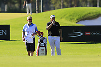 Shane Lowry (IRL) and Brian Martin on the 16th hole during Friday's Round 2 of the 2018 Turkish Airlines Open hosted by Regnum Carya Golf &amp; Spa Resort, Antalya, Turkey. 2nd November 2018.<br /> Picture: Eoin Clarke | Golffile<br /> <br /> <br /> All photos usage must carry mandatory copyright credit (&copy; Golffile | Eoin Clarke)