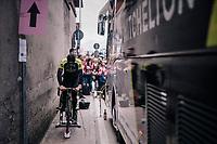 Christopher Juul-Jensen (DEN/Mitchelton-Scott) warming up ahead of the stage<br /> <br /> stage 15: Tolmezzo – Sappada (176 km)<br /> 101th Giro d'Italia 2018