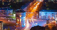 Водонапорная башня в Оренбурге, вид с высоты вечером