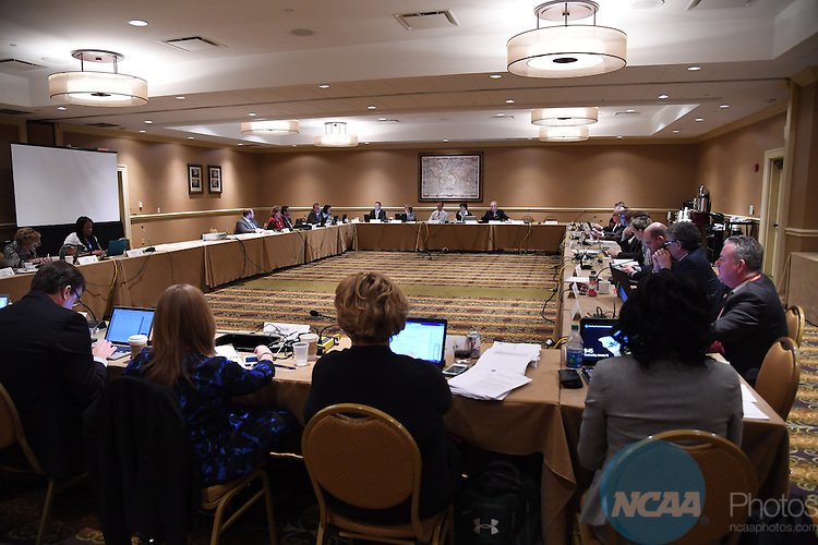 18 JAN 2017:   The Division III Management council meets during the 2017 NCAA Convention at the Gaylord Opryland Resort & Convention Center in Nashville, TN. Justin Tafoya/NCAA Photos