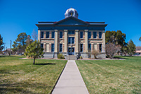 Jeff Davis County Courthouse is located in the town of Fort Davis Texa.