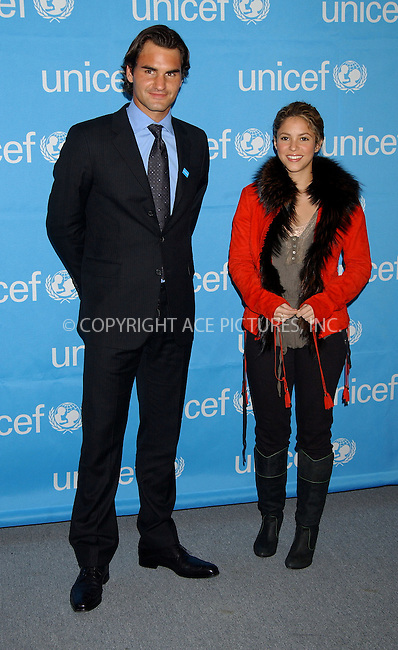 WWW.ACEPIXS.COM . . . . . ....NEW YORK, APRIL 3, 2006....Shakira at the presentation as Roger Federer Joins UNICEF as a Goodwill Ambassador... ....Please byline: KRISTIN CALLAHAN - ACEPIXS.COM.. . . . . . ..Ace Pictures, Inc:  ..Philip Vaughan (212) 243-8787 or (646) 679 0430..e-mail: info@acepixs.com..web: http://www.acepixs.com