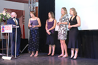Budapest, HUNGARY, 10/11/2007.  GBR W4X Female Crew of the year [2006],  at the 2007 FISA Coaches Conference. left to right, John BOULTBEE and Katherine GRAINGER, Annie VERNON, Frances HOUGHTON and Debbie FLOOD. [Mandatory Credit Peter Spurrier/Intersport Images]