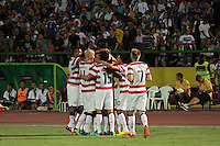 SARAJEVO, Bosnia-Herzegovina &ndash; Wednesday August 14, 2013: US Men's National team defeated the National team of Bosnia-Herzegovina 4-3 during an International friendly at Asim Ferhatovic Hase Stadium.<br />