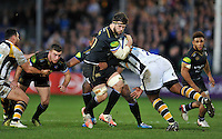 Guy Mercer of Bath Rugby takes on the Wasps defence. European Rugby Champions Cup match, between Bath Rugby and Wasps on December 19, 2015 at the Recreation Ground in Bath, England. Photo by: Patrick Khachfe / Onside Images