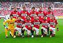 Urawa Reds team group line-up,.APRIL 14, 2012 - Football / Soccer :.Urawa Reds team group shot (Top row - L to R) Keisuke Tsuboi, Mitsuru Nagata, Yuki Abe, Tomoaki Makino, Keita Suzuki, (Bottom row - L to R) Nobuhiro Kato, Tsukasa Umesaki, Tadaaki Hirakawa, Yosuke Kashiwagi, Popo and Marcio Richardes before the 2012 J.League Division 1 match between Urawa Red Diamonds 2-0 Vissel Kobe at Saitama Stadium 2002 in Saitama, Japan. (Photo by AFLO)