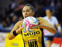 Liana Leota in action during the ANZ Netball Championship match between the Central Pulse and Waikato Bay Of Plenty Magic at TSB Bank Arena, Wellington, New Zealand on Monday, 30 March 2015. Photo: Dave Lintott / lintottphoto.co.nz