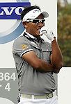 SUZHOU, CHINA - APRIL 17:  Thongchai Jaidee of Thailand reacts to his tee off on the 3rd hole during the Round Three of the Volvo China Open on April 17, 2010 in Suzhou, China.  Photo by Victor Fraile / The Power of Sport Images
