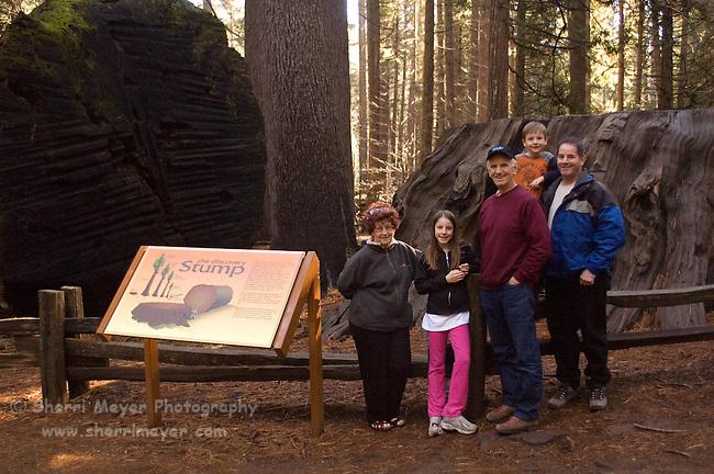 Visitor's enjoying Calaveras Big Trees State Park, California