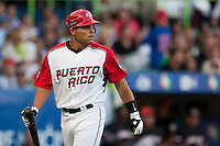 11 March 2009: #7 Ivan Rodriguez of Puerto Rico is dejected after strike out during the 2009 World Baseball Classic Pool D game 6 at Hiram Bithorn Stadium in San Juan, Puerto Rico. Puerto Rico wins 5-0 over the Netherlands
