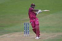 Andre Russell (West Indies) goes over the top for a boundary during West Indies vs New Zealand, ICC World Cup Warm-Up Match Cricket at the Bristol County Ground on 28th May 2019