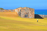 Fort visitor, Old San Juan, Puerto Rico