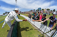 NZ's Jeet Raval signs autographs during day two of the international cricket 1st test match between NZ Black Caps and England at Bay Oval in Mount Maunganui, New Zealand on Friday, 22 November 2019. Photo: Dave Lintott / lintottphoto.co.nz