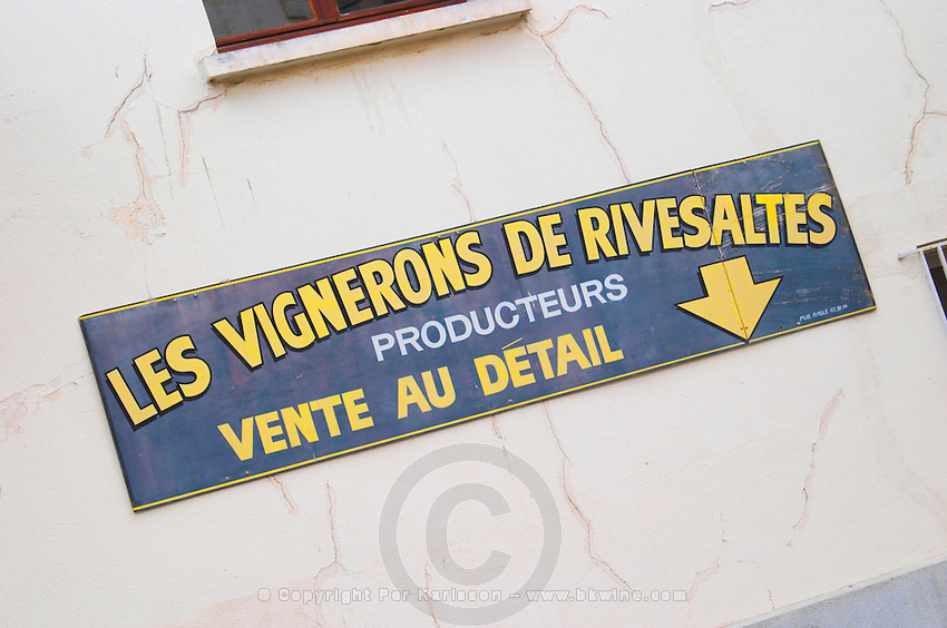 Les Vignerons Cooperative. Rivesaltes town, Roussillon, France