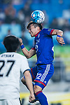Suwon Midfielder Ko Seung-Beom heads the ball during the AFC Champions League 2017 Group G match between Suwon Samsung Bluewings (KOR) vs Kawasaki Frontale (JPN) at the Suwon World Cup Stadium on 25 April 2017, in Suwon, South Korea. Photo by Yu Chun Christopher Wong / Power Sport Images