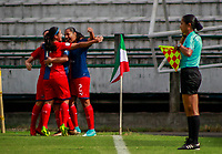 MANIZALES - COLOMBIA, 20-07-2019: Once Caldas y Deportivo Independiente Medellín en partido por la fecha 2 de la Liga Femenina Águila 2019 jugado en el estadio Palogrande de la ciudad de Manizales. / Once Caldas and Deportivo Independiente Medellin in match for the date 2 as part of Aguila Women League 2019 played at Palogrande stadium in Manizales. Photos: VizzorImage / Andres Valencia / Cont /