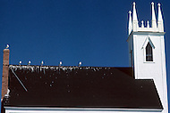 Nova Scotia, Canada, 1967. Characteristic old style church.