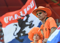 20190629 - VALENCIENNES , FRANCE : illustration picture shows fans during the female soccer game between Italy  - Squadra Azzurrine - and The Netherlands  – Oranje Leeuwinnen - , a knock out game in the quarter finals of the FIFA Women's  World Championship in France 2019, Saturday 29 th June 2019 at the Stade du Hainaut Stadium in Valenciennes , France .  PHOTO SPORTPIX.BE | DIRK VUYLSTEKE