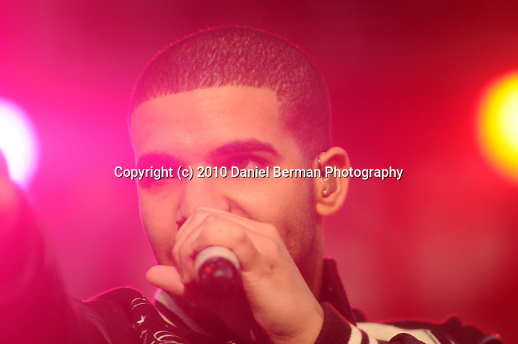Drake (Aubrey Drake Graham) performs on the Bumbershoot Mainstage Monday September 6, 2010 in Seattle on the final night of the three day music and arts festival, now in its 40th year. Bumbershoot 2010 photos by Seattle Bellingham Photographer Daniel Berman/www.bermanphotos.com (c) 2010 Daniel Berman Photography