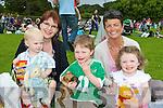 Derek, Breda and Ted O'Gorman, Karen Sheehan and Nessa Galvin Killarney having fun at the Killarney Summerfest Teddy Bear picnic in Muckross House gardens on Saturday