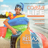 Coastal Life Magazine cover and feature photos by Debi Pittman Wilkey.