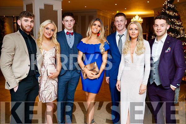 Eanna Ó Conchuir, Aisling Coyle Rob Ó Sé, Celine O'Meara, Tomas Mac An t-Saoir, Roisin Walsh and Tomás Ó Sé, pictured at the Kerry GAA awards held at The Rose Hotel, Tralee on Saturday night last.