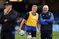 Tom Ellis of Bath Rugby and Director of Rugby Todd Blackadder look on. Gallagher Premiership match, between Bath Rugby and Gloucester Rugby on September 8, 2018 at the Recreation Ground in Bath, England. Photo by: Patrick Khachfe / Onside Images